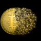 bitcoin, gold, money wallpaper