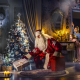 holidays, new year, candles, children, christmas tree, santa claus, gifts wallpaper