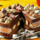 christmas, chocolate cake, christmas toys, holidays wallpaper
