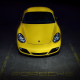 porsche, parking, yellow car, cars, porsche cayman wallpaper