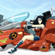 Wonder Woman, artwork, Akira, motorcycles, crossover wallpaper