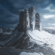 tre cime di lavaredo, sky, clouds, nature, dolomite alps, alps, mountains, italy wallpaper