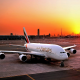 emirates, emirates airline, a380, airbus, airbus a380, dubai, uae, sunrise, aircrafts, aviation wallpaper