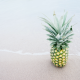 pineapples, beach,sea, fruit, food wallpaper