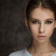Elena Aksenova, face, piercing, brown eyes, earrings, brunette, looking at viewer, woman wallpaper