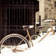 snow, bicycles, bike, winter wallpaper