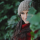 woolen, smiling, brunette, gray eyes, scarf, nature, long hair, women wallpaper