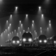 train station, railway, denmark, mist, landscape, night, lights, monochrome, technology wallpaper