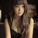 asian, black dresses, brunette, lips, cleavage wallpaper