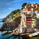 Cinque Terre, Italy, sea, city, dock, boat, building, colorful, hill, cityscape, cliff wallpaper