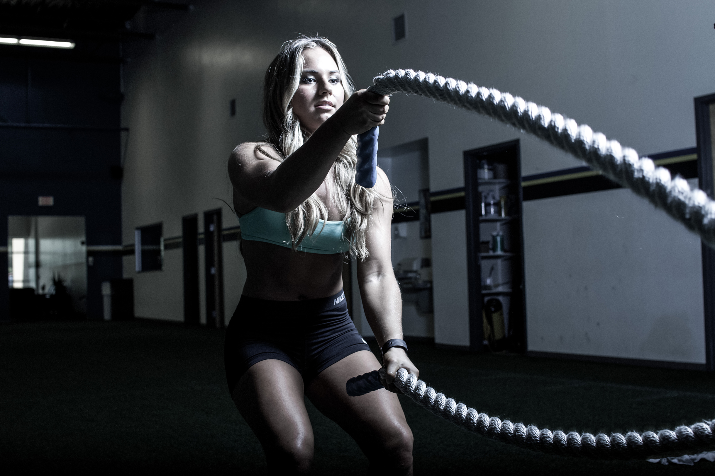 Wallpaper Crossfit Rope Workout Women Sport Gym
