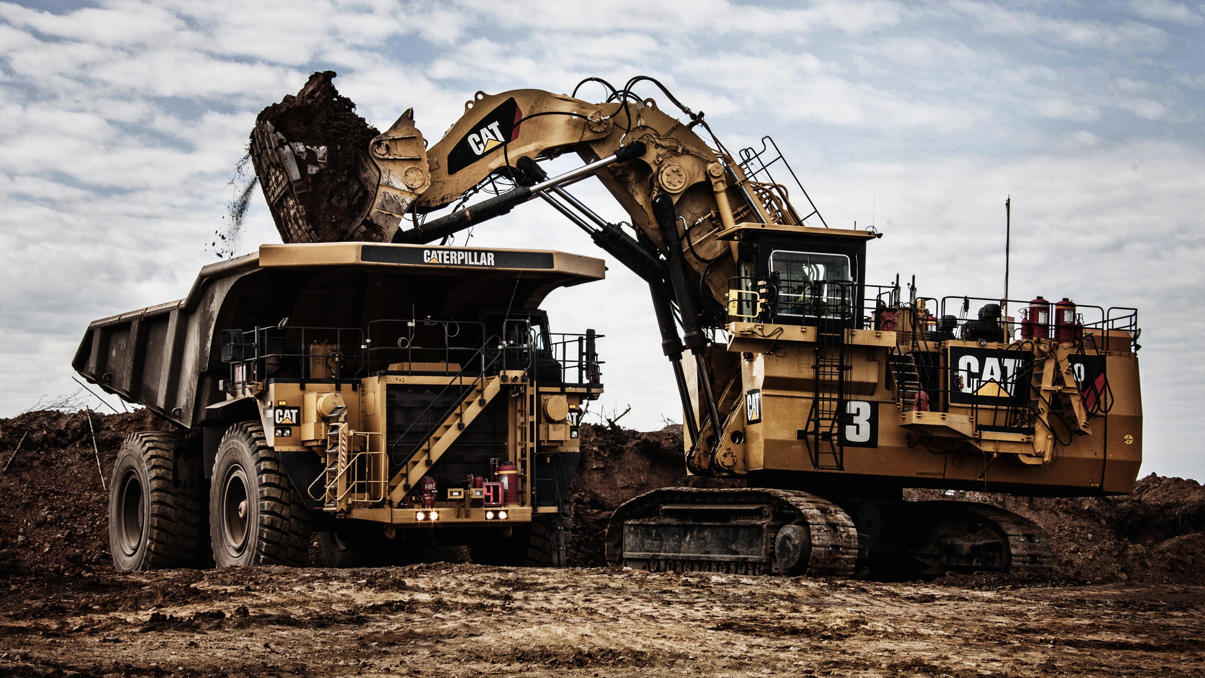 Wallpaper Caterpillar 789d Dump Truck Excavator