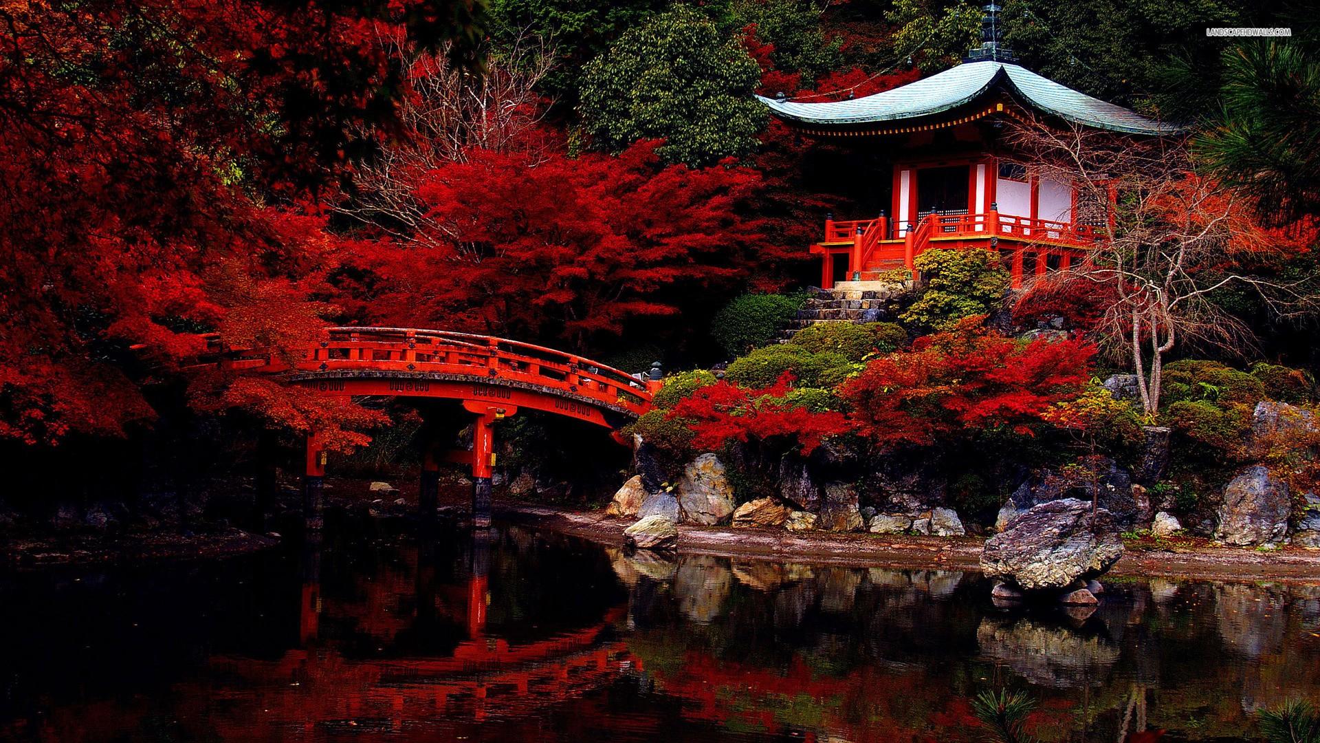 Download Japanese Garden Temple Lake Garden Pond
