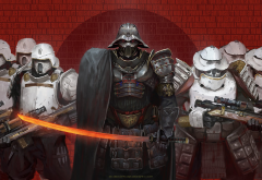 science fiction, samurai, Star Wars, Darth Vader, sword, art wallpaper