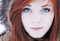 Rose Leslie, girl, women, face, redhead, lips, eyes, blue eyes wallpaper
