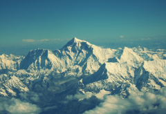 Mount Everest, Chomolungma, Mahalangur, Himalayas, mountains, snow, winter, Tibet wallpaper