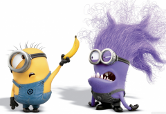 cartoon, movies, Despicable Me 2, minions, banana wallpaper
