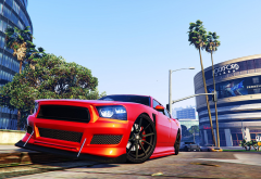 Grand Theft Auto V, car, building, video games wallpaper