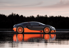 car, Bugatti, Bugatti Veyron Super Sport, Bugatti Veyron, reflection wallpaper