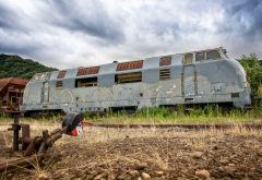 train, vehicles, abandoned wallpaper