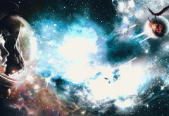 space art, space, astronaut, galaxy, planet wallpaper