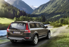 Volvo XC70, Volvo, car, mountains wallpaper