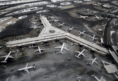 Newark Liberty International Airport, Newark, usa, airport, aircraft, winter wallpaper