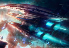 Mass Effect, Normandy SR-2, video games, spaceship wallpaper