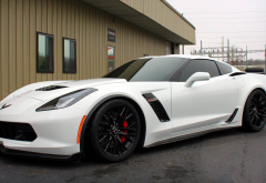 Corvette C7 Z06, car, white cars, Corvette C7, Corvette wallpaper