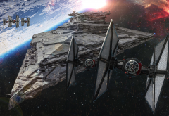 Star Wars: Episode VII - The Force Awakens, Star Wars, movies, artwork, spaceship wallpaper