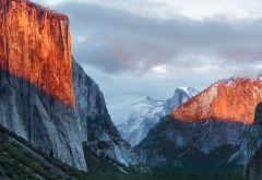 El Capitan, Yosemite National Park, California, usa, mountains clouds wallpaper