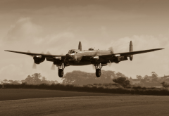 aircraft, Avro Lancaster, military aircraft, Bomber, aviation wallpaper