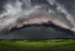 supercell, storms, nature, landscapes, clouds, fields, thunder wallpaper