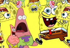 SpongeBob SquarePants, cartoon, movies, Spongebob wallpaper