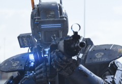 science fiction, robot, Chappie, gun, movies wallpaper