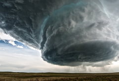supercell, nature, clouds, storm, wyoming, usa, rain, field wallpaper