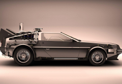 DeLorean DMC-12, DeLorean, car, Back to the Future, movies wallpaper