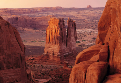arches national park, utah, usa, canyon, rock, landscape, nature wallpaper