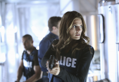 Stana Katic, Castle, TV series, police, gun, women, movies wallpaper