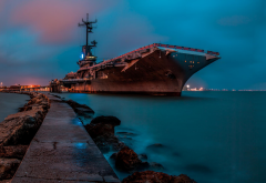 USS Lexington, aircraft carrier, United States Navy, ship wallpaper