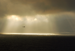 military, helicopters, aircraft, nature, clouds, sea, sun light wallpaper