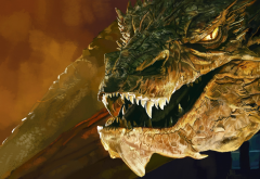Smaug, The Hobbit: The Desolation of Smaug, dragon, Benedict Cumberbatch, movies wallpaper
