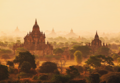 artwork, painting, Myanmar, Burma, nature wallpaper