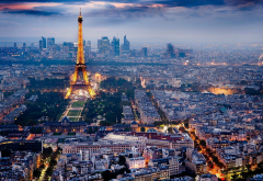 Paris, Eiffel Tower, panorama, city, night, france wallpaper
