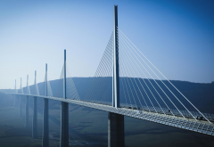 Millau Viaduct, France, bridge, viaduct, city wallpaper
