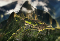 Machu Picchu, mountains, Peru, tilt shift, nature wallpaper