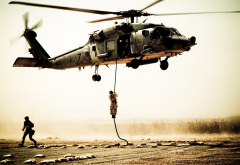 Sikorsky, UH-60, Black Hawk, helicopters, soldier, aircraft wallpaper
