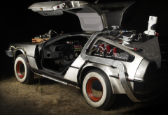 DeLorean, back to the future, time machine, car, movies wallpaper