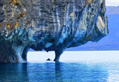 lake, marble, cave, rock, patagonia, chile, erosion, nature wallpaper