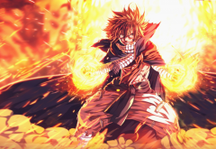 fairy tail, anime, dragneel natsu, fire wallpaper